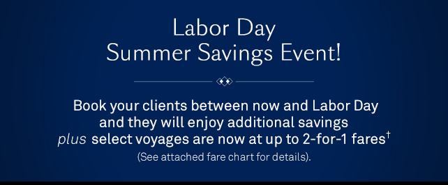 Labor Day Summer Savings Event!