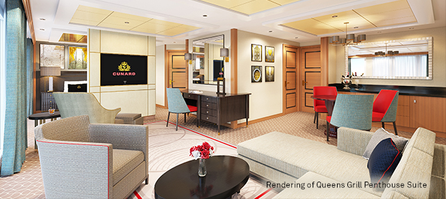 Rendering of Queens Grill Penthouse                            Suite