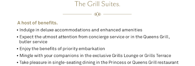 The Grill Suites. A host of benefits.
