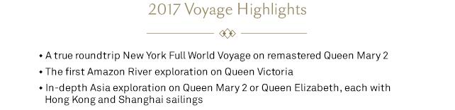 2017 Voyage Highlights
